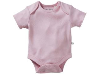 Baby Body Kurzarm Bio-Baumwolle hell rosa