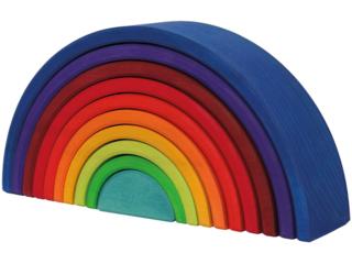 """Großer Regenbogen """"Sunset"""" aus Lindenholz, 10-teilig, bunt lasiert"""