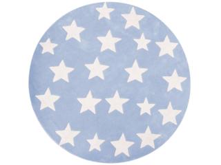 """Kinderteppich rund """"Sterne blau"""""""
