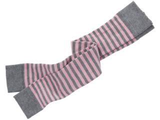 Kinder Leggings Baumwolle (kbA) grau-geringelt