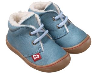 "Kinder Schuhe ""Juan"" pflanzlich gegerbt stoneblue"