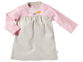 Baby Kleid Langarm Bio-Baumwolle Pilzfreunde