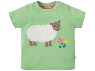 Baby und Kinder T-Shirt Schaf lindgrün
