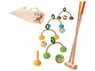 Kinder Krocket Spiel aus Kautschukholz