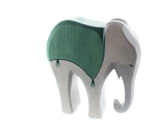 Elefant (mit Sattel)  14 cm
