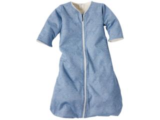 """Winterschlafsack Baby, Baumwolle (kbA)/Schurwolle (kbT), """"Nemo"""" blau"""