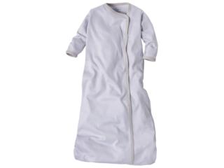 Schlafsack Baby Bio-Baumwolle leichte Qualität grau-weiß gestreift