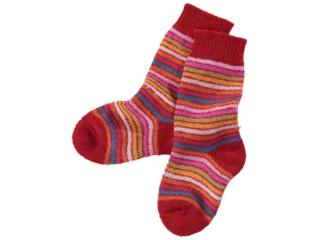 Kinder Socken Schurwolle Rainbow mohn