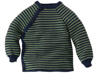 Baby Jacke Schlüttli Baumwolle (kbA) marine-apfel