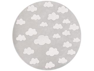 """Kinderteppich rund """"Wolken grau"""""""