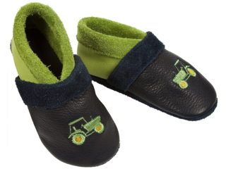 25-30 Kinder  Hausschuhe Leder Happy Foot Pantoffel Latschen  Gr 3-3003