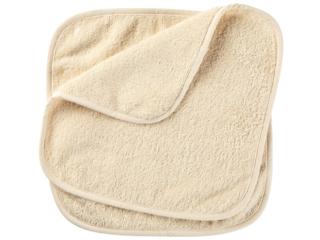 Waschlappen Bio-Baumwolle 2er Set natur