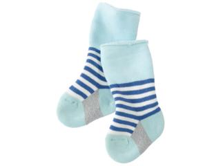 Babysocken Frottee jeansblau-geringelt