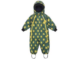 """Baby und Kinder Schneeanzug mit Kapuze """"Po"""" grün"""