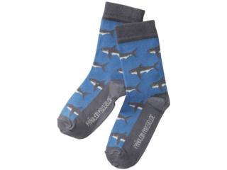 Kinder Socken Hai grau