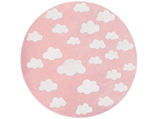 """Kinderteppich rund """"Wolken rosa"""""""