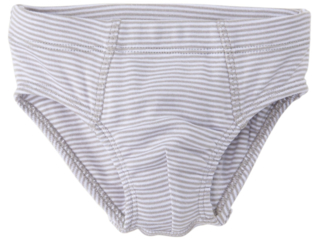 Jungen Slip Bio-Baumwolle grau-weiß gestreift