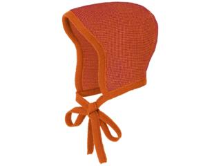 Baby Strickmütze melange-orange-bordeaux