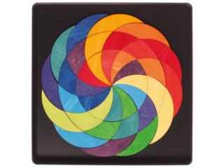 Magnetspiel Puzzle aus Birken- und Pappelholz 59-teilig Regenbogenrad