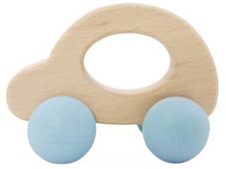Rolli Spielzeug Auto aus Buchenholz, nature blue
