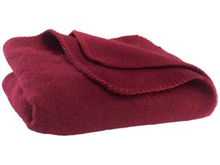 Babydecke aus Schurwolle bordeaux