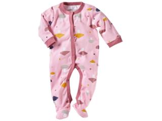 Baby Schlafanzug Bio-Baumwolle Pilzparty rosa