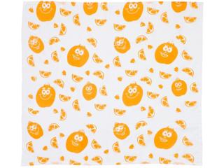 Spieltuch Bio-Baumwolle Orange weiß
