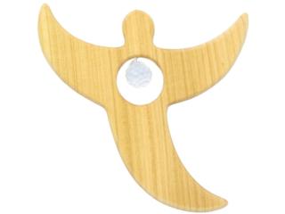 Holzengel mit Swarovski-Kristall