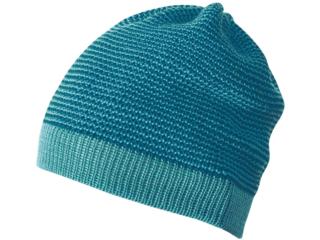 Baby Mütze Beanie melange-lagoon-blau