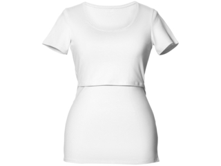Still-Shirt mit kurzem Arm weiß