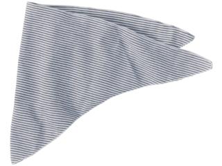 Baby und Kinder Dreieckstuch Wolle Seide marine-geringelt