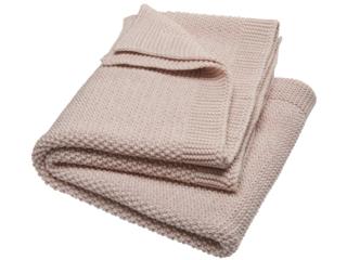 Babydecke Bio-Baumwolle Strick-Qualität perl natur