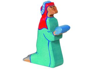 """Holzfigur """"Balthasar 2, blau"""" Schöne Weihnachtszeit"""