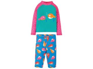 Kinder Badeanzug UV Schutzkleidung mit UV 40 plus Set Fisch