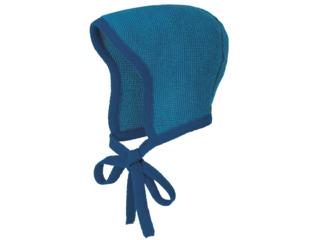 Baby Strickmütze melange-marine-blau