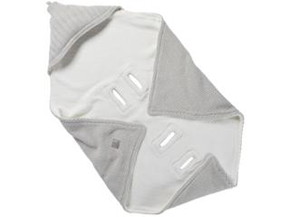 Einschlagdecke Babyschale grey melange