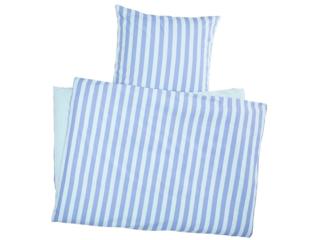 Bettwäsche zum Wenden Bio-Baumwolle Streifen Blau
