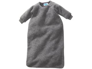 Schlafsack Baby mit Arm Bio-Schurwolle (kbT) Ganzjahr fels