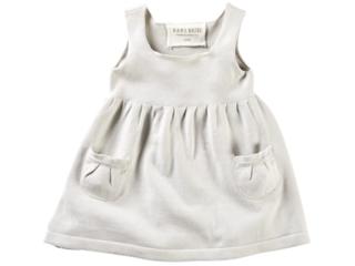 Baby und Kinder Kleid Strick-Qualität Bio-Baumwolle hellgrau melange