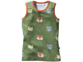 Kinder Unterhemd Bio-Baumwolle Waldtiere