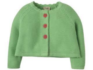 Kinder Strickjacke apfelgrün