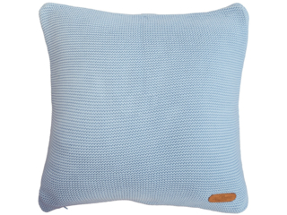 Kissenbezug 40x40 cm Bio-Baumwolle, bleu