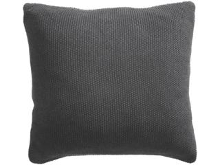 Kissenbezug 40x40 cm Bio-Baumwolle Strick dark grey