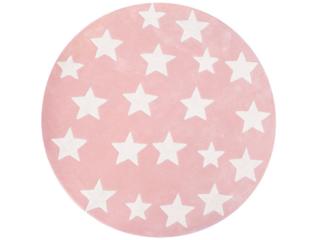 """Kinderteppich rund """"Sterne rosa"""""""