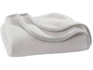 Babydecke Wolle-Baumwolle Fleece grau