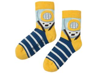 Kinder Socken Taucher gelb