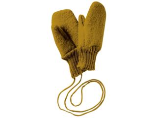 Baby und Kinder Handschuhe, Merino-Wollwalk (kbT) gold