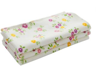 Moltontücher Bio Baumwolle 3er-Set Blumen