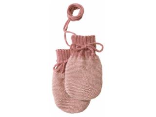 Baby Handschuhe melange-rosé