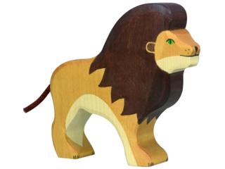 """Holzfigur """"Löwe, stehend"""" Abenteuer Wildnis"""